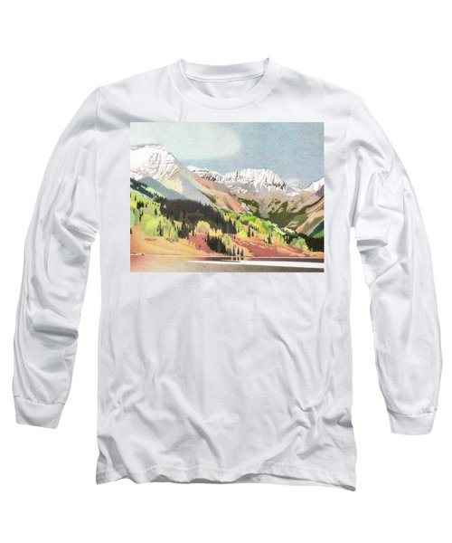 Trout Lake Colorado Long Sleeve T-Shirt by Dan Miller