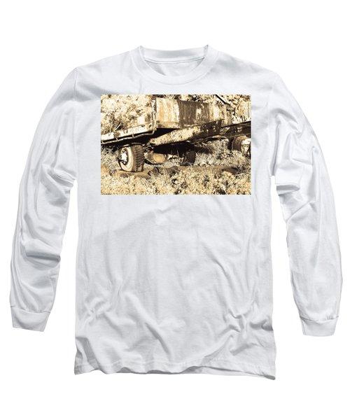 Truck Wreckage II Long Sleeve T-Shirt by Cassandra Buckley