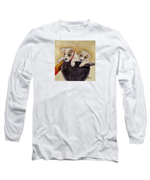 Long Sleeve T-Shirt featuring the painting Trump And Tillie by Angela Davies
