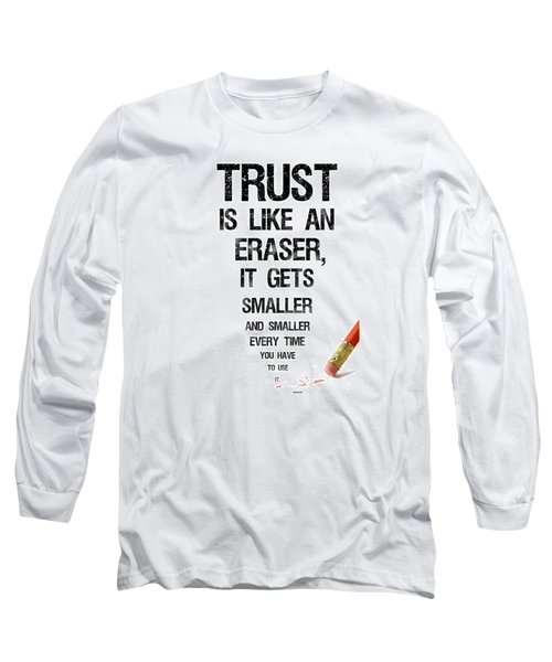Long Sleeve T-Shirt featuring the digital art Trust by Jean Haynes