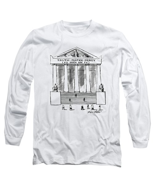 Truth Justice Mercy Long Sleeve T-Shirt