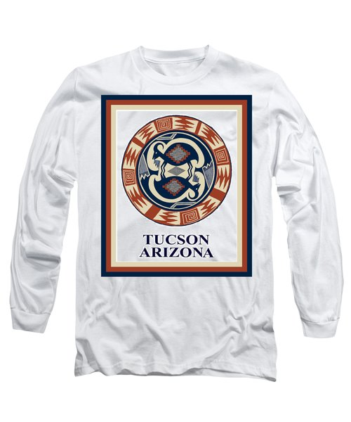 Long Sleeve T-Shirt featuring the digital art Tucson Arizona  by Vagabond Folk Art - Virginia Vivier