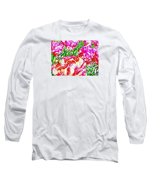 Tulip Infusion Long Sleeve T-Shirt by Zafer Gurel