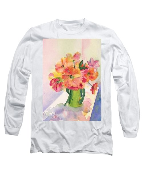 Tulips For Mother's Day Long Sleeve T-Shirt by Anna Ruzsan