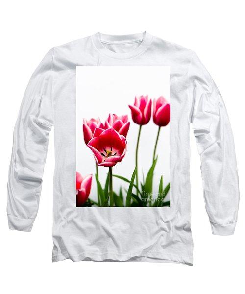 Tulips Say Hello Long Sleeve T-Shirt