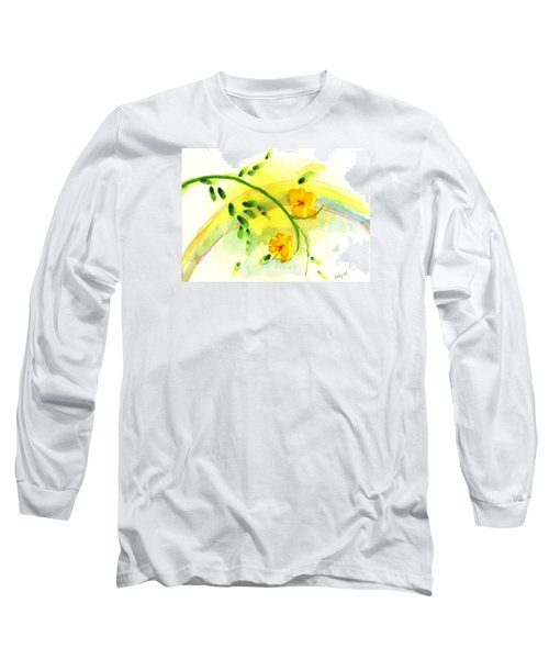 Long Sleeve T-Shirt featuring the painting 'twas By Grace by Holly Carmichael