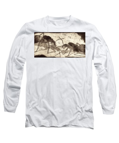 Two Ants In Communication - Etching Long Sleeve T-Shirt