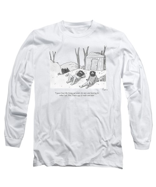 Two Bearded Men In Torn Clothing Lie Long Sleeve T-Shirt