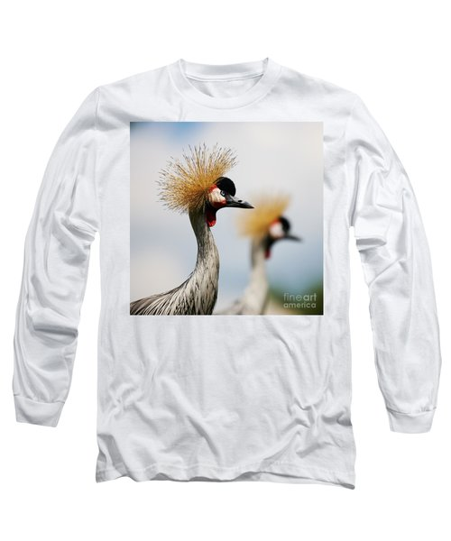 Two Black Crowned Cranes Long Sleeve T-Shirt