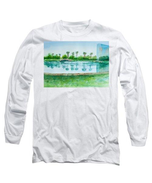 Two Bridges At Rainbow Lagoon Long Sleeve T-Shirt