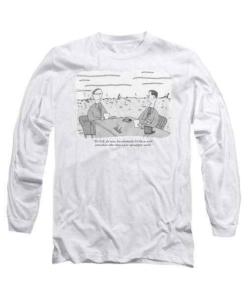 Two Businessmen Talk At A Desk Scorched Earth Long Sleeve T-Shirt