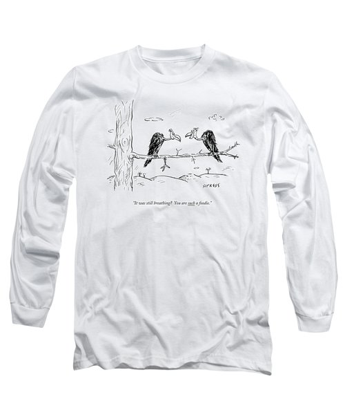 Two Buzzards Sit And Talk On A Branch Long Sleeve T-Shirt