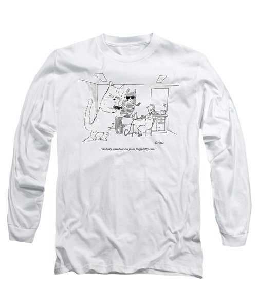 Two Cats Threaten An Old Lady Long Sleeve T-Shirt
