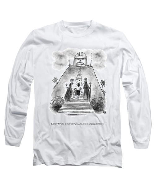 Two Chieftains Lead A Native Up The Stairs Long Sleeve T-Shirt