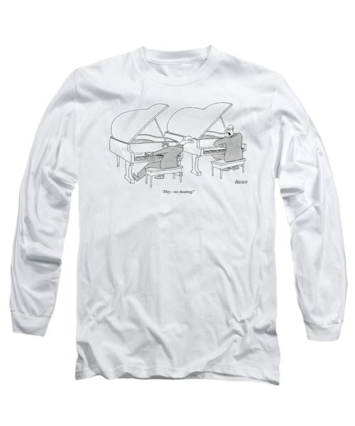 Two Concert Pianists Play Side-by-side Long Sleeve T-Shirt