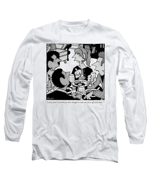 Two Couples Eat Dinner Together Long Sleeve T-Shirt