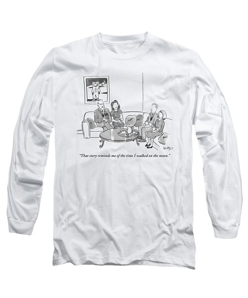 Two Couples Sit Drinking Tea In A Living Room Long Sleeve T-Shirt
