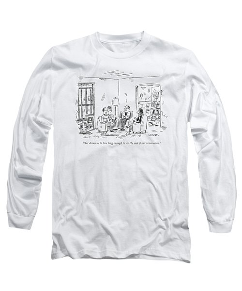 Two Couples Sitting In The Middle Of A House Long Sleeve T-Shirt