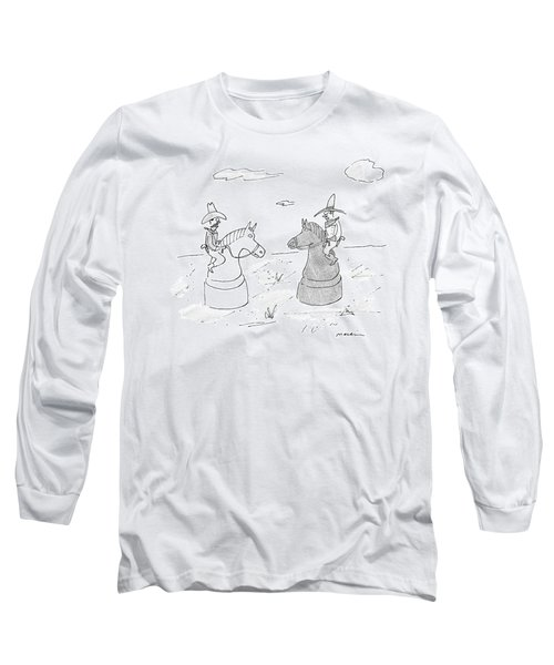 Two Cowboys Are Riding On Chess Pieces Long Sleeve T-Shirt