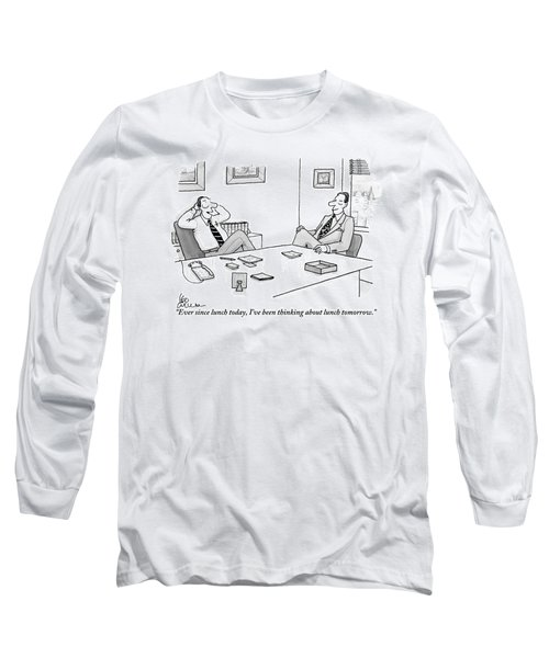 Two Executives In Suits Sit At A Business Table Long Sleeve T-Shirt