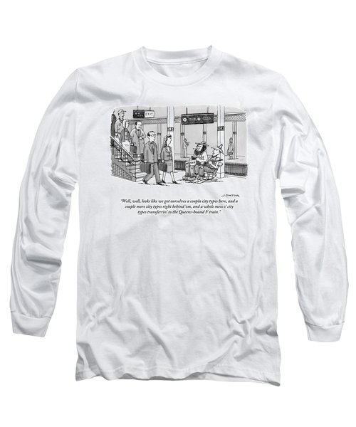 Two Farmers Sit In Rocking Chairs At The 42nd Long Sleeve T-Shirt