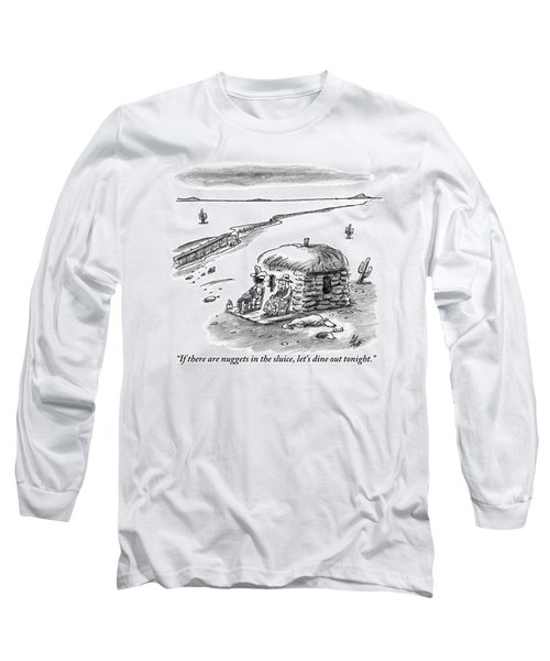 Two Farmers Sit Outside Their Hut Staring Long Sleeve T-Shirt
