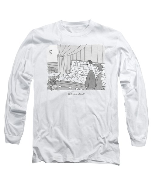 Two Funeral Mourners Stand Over A Coffin Long Sleeve T-Shirt