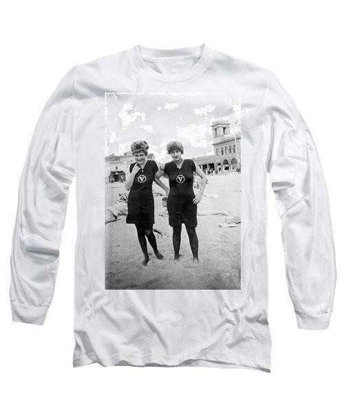 Two Girls At Venice Beach Long Sleeve T-Shirt