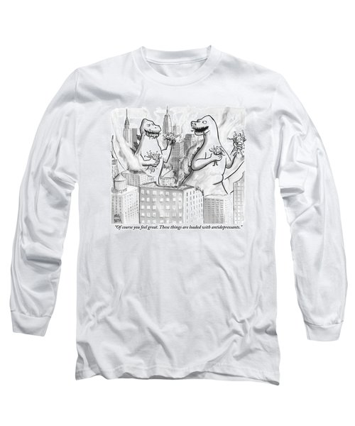 Two Godzillas Talk To Each Other Long Sleeve T-Shirt