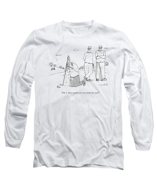 Two Golfers Speak To A Man Long Sleeve T-Shirt