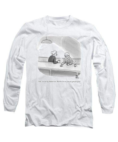 Two Grannies Smoke And Drink At A Bar Long Sleeve T-Shirt