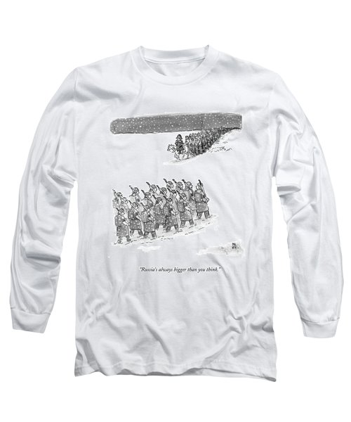 Two Groups Of Army Troops Walk In Opposite Long Sleeve T-Shirt
