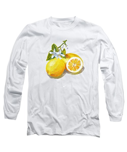 Two Happy Lemons Long Sleeve T-Shirt by Irina Sztukowski