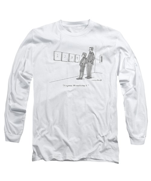 Two Hip-looking People In A Gallery Long Sleeve T-Shirt