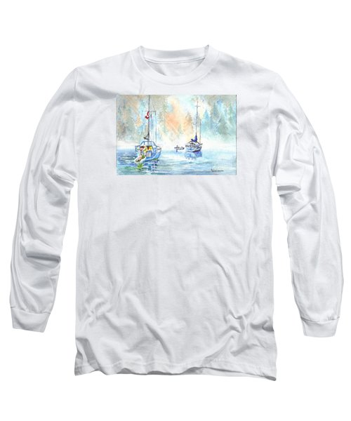 Long Sleeve T-Shirt featuring the painting Two In The Early Morning Mist by Carol Wisniewski