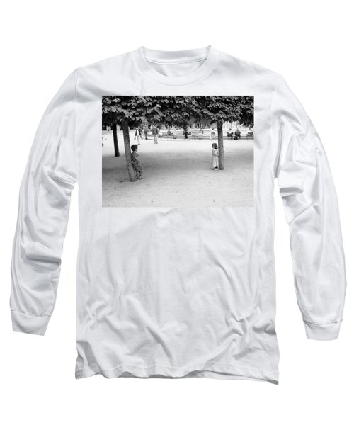 Two Kids In Paris Long Sleeve T-Shirt