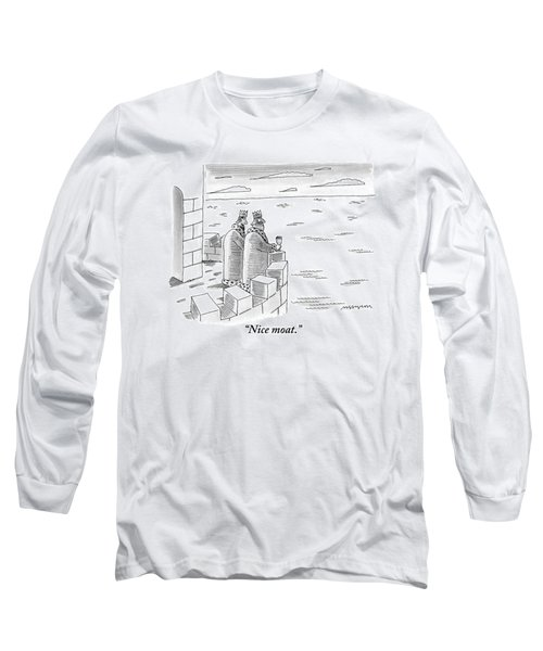 Two Kings Are Seen Standing On A Castle Looking Long Sleeve T-Shirt