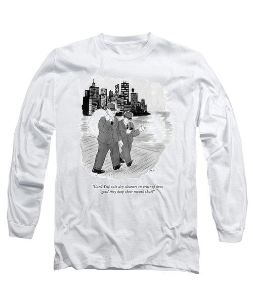 Two Mafia Guys Walk Down The Street Long Sleeve T-Shirt