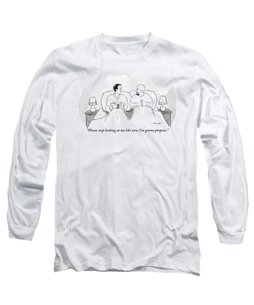 Two Men Are In Bed Together. One Long Sleeve T-Shirt