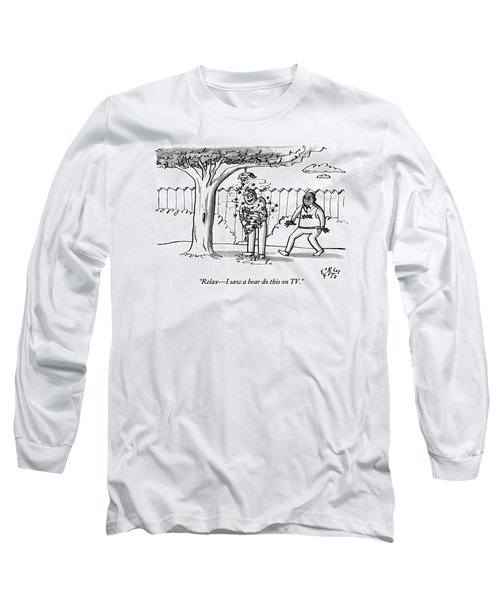 Two Men Are Seen In A Backyard Long Sleeve T-Shirt