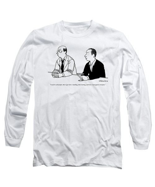 Two Men Are Seen Speaking With Each Other Long Sleeve T-Shirt