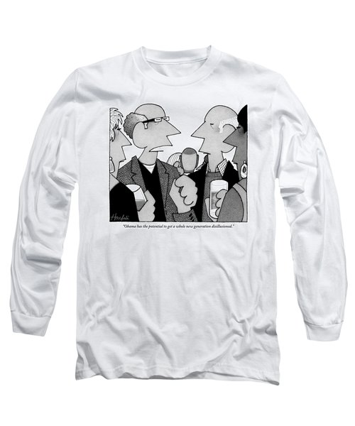 Two Men Are Seen Talking With Each Other Long Sleeve T-Shirt