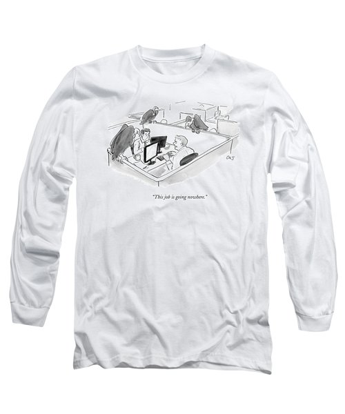 Two Men In A Small Cubicle Speak To Each Other Long Sleeve T-Shirt