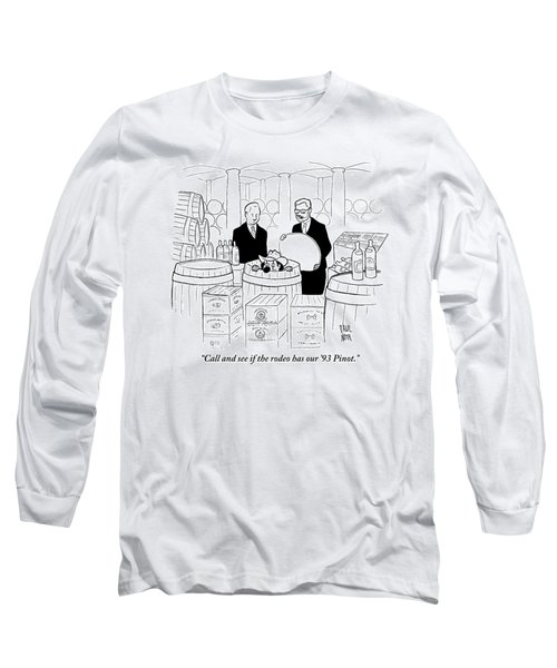 Two Men In A Wine Cellar Find A Clown In One Long Sleeve T-Shirt
