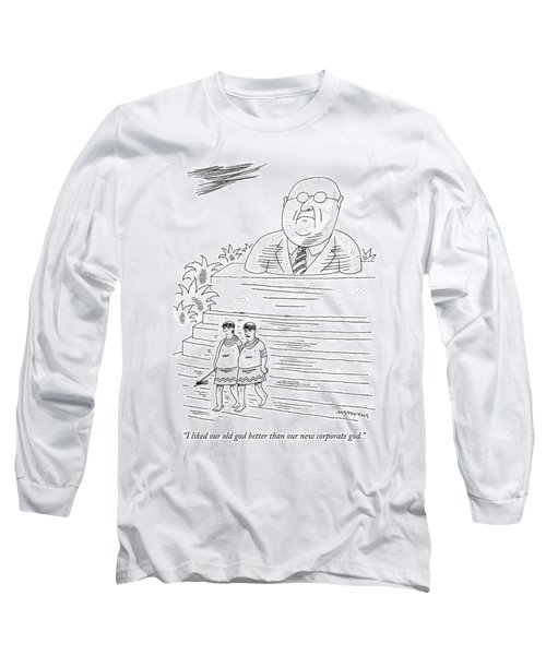 Two Men In Tribal-looking Adornments Walk Long Sleeve T-Shirt