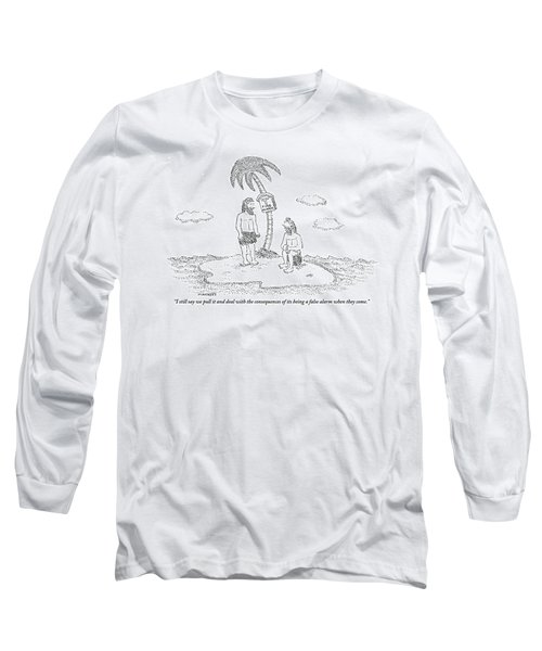 Two Men Sitting On An Island Long Sleeve T-Shirt