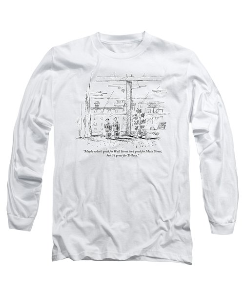 Two Men Standing In An Apartment Long Sleeve T-Shirt