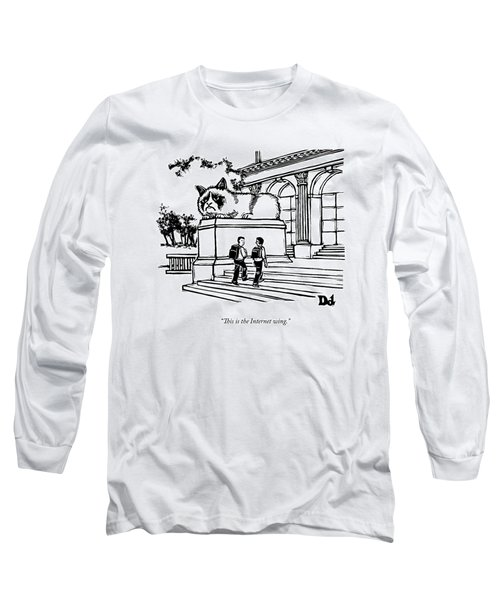 Two Men Walk Into A Library.  There Is An Long Sleeve T-Shirt