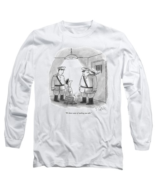 Two Men With A Parrot Interrogate A Prisoner Long Sleeve T-Shirt
