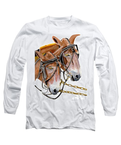 Two Mules - Enhanced Color - Farmer's Friend Long Sleeve T-Shirt